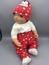 Gerber Baby Penguin Hat & Peplum Set 0-3 M Red Polka Dot Infant Toddler Clothes