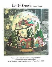 Let It Snow Collage Quilt Pattern by Laura Heine of Fiberworks Christmas/winter