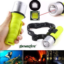 3500Lm Xm-L T6 Led Scuba Diving Flashlight Torch Waterproof Lamp Underwater 60M