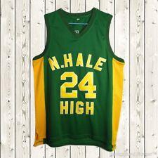 Bruno Mars #24 N. Hale High School Stitched Basketball Jersey Wild & Free Green