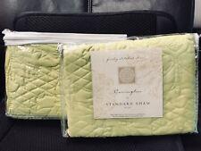 2Full/Queen Shams Set Carrington New Yellow/Honey Dew Melon - Standard 20� x 26�