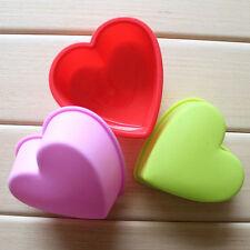Silikon-Herz-Kuchen-Muffin-Schokoladen-Süßigkeit Backen-Form Eis Seifen-Behälter