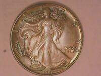 1987 ASE Coin BU 1 oz US $1 Dollar Brilliant Uncirculated  Dual Rainbow Toned