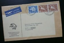 Switzerland 1975 Airmail Cover From Bern To Belgrade Serbia - US Horse Fauna DL1