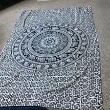 Festival blanket boho hippy chic elephants black white
