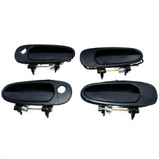 NEW Outside Door Handle Front Left Right Black Fit For TOYOTA COROLLA 93-97 4Pcs