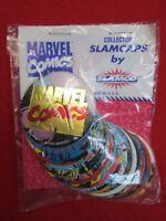 1993 Marvel Comics Collector Slamcaps by Slamco- 20 pogs set original packaging!