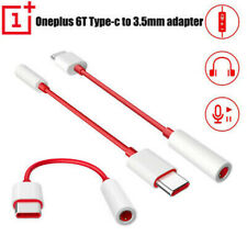 For ONEPLUS 7 7 Pro 6T Type C to 3.5mm Earphone Jack Adapter Aux Audio White Red