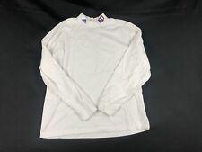 adidas Kansas Jayhawks - Men's White Cotton Long Sleeve Shirt (XL) - Used