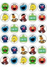30 X SESAME STREET MIXED IMAGES EDIBLE CUPCAKE TOPPERS PREMIUM RICE PAPER 228