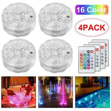 More details for 4pcs remote control rgb 16 colour changing underwater pond aqua mood led lights