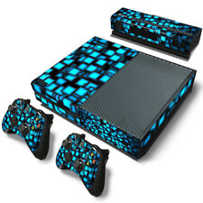 Vinyl Decal Skin Sticker For Xbox ONE Console &Controllers-3D Sky Blue Squares