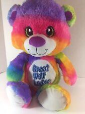 "Great Wolf Lodge Rainbow Tie Dye Bear 20"" Mascot Plush Animal by Fiesta HG5"