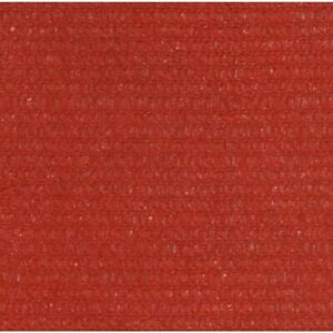 Voile d'ombrage 160 g/m² Rouge 3x3x3 m PEHD