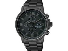 Citizen CA0295-58E Mens Black Steel NightHawk Eco Drive Chronograph 42mm Watch