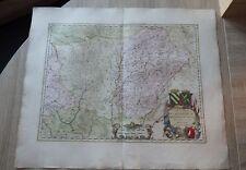 Joannes Janssonius CARTE OLD MAP circa. 1650 Les deux BOURGOGNE