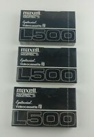 3 Maxell Epitaxial  L- 500 Beta Video Cassette- New Sealed