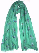 Hummingbird Print Scarf, Pretty Aqua Hummingbird Scarf, Quirky Ladies Scarves