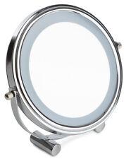 Sabichi LED Cosmetic Mirror Adjustable Shaving Make-up Chrome Finish Illuminated