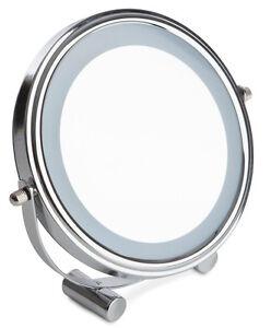 Sabichi LED Cosmetic Travel Adjustable Mirror Shaving Make-up Chrome Finish