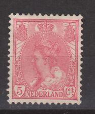 NVPH Netherlands Nederland 60 MLH Wilhelmina bontkraag 1899-1921 Pays Bas NO GUM