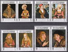 ADEN / Hadhramaut 1967 Art Paintings Cranach imperf. MNH**Mi.:147/54B 30,00 Eur