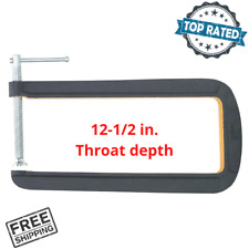 "12"" Deep Throat U C-Clamp 4"" Jaw Opening Steel Powder Coated Rust Resistance New"