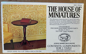 Dollhouse Furniture Kit The House of Miniatures Components For 1Table 40008