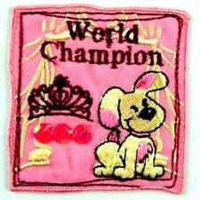 Applikation zum Aufbügeln Bügelbild 3-604 Hund World Champion