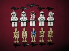 LEGO Star Wars minifigures LOT Commander Fox,Clones,ARF Troopers,Commander Droid