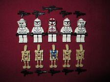 LEGO Star Wars minifigures LOT Commander Fox,Clones,ARF Troopers,Commander Droid