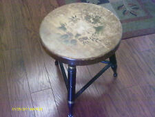 Vintage L. HITCHCOCK Wooden Tripod Stool Chair