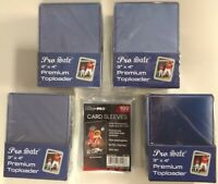 100 Pro Safe Premium 3x4 Toploaders + 100 Ultra Pro soft sleeves New