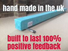 finest quality gymnastics gym balance beam 8FT long TURQUOISE BRAND NEW