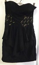 >> CUTE **WISH** LITTLE BLACK STRAPLESS DRESS - SIZE 10 <<