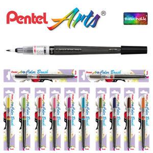 Pentel Colour Brush Pen, Refillable, Calligraphy, Art, Manga, *12 Colours*