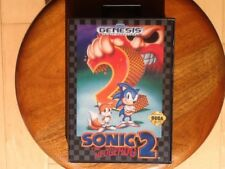 Sega genesis sonic the hedgehog 2 complete with box an manual