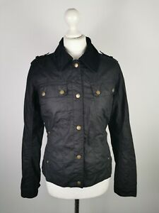 Barbour International Ladies Dera Vulcan Wax Cotton Jacket, UK 12