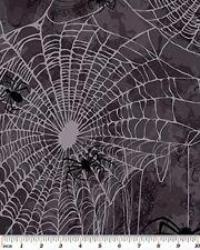Fat Quarter Gothic Glam Spiders Web Halloween Cotton Quilting Fabric Benartex