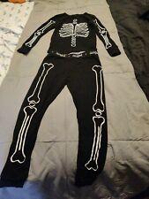 Cat & Jack Boys Black& white Skeleton 2 Piece Pajama Set Size 6
