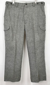 Vtg FILSON Mackinaw Wool Field Hunting Pants 40 Heather Gray LN # 87 USA
