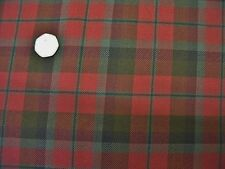 ITALIAN WOOL CHECK-RED/GREEN-SUITING FABRIC -FREE P+P