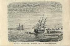 Stampa antica MISSISSIPPI delta Luisiana United States 1895 Old print Engraving