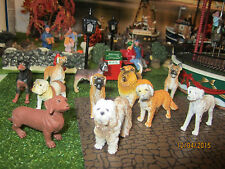 "TRAIN GARDEN VILLAGE HOUSE "" DOGS, DOGS, DOGS multi-pc SET "" +DEPT 56/LEMAX INFO"