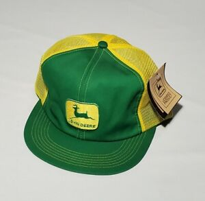 VINTAGE John Deere K Products Mesh Trucker Snapback Hat NEW WITH TAGS!