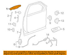 GM OEM-Outside Exterior Door Handle Left 84053444