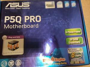 ASUS P5Q PRO Intel P45 Chipsatz inkl. Blende,Orginalkarton 8Kanal Audio