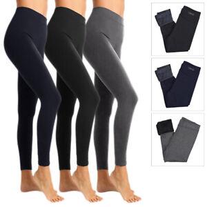 Leggings Donna Invernale Termico MicroPile Pantalone Felpato Elasticizzato VEQUE