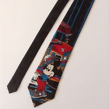 Mickey Mouse Pine Knot Motel Mens Neck Tie Mickey Unlimited Black Red Blue