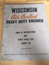 wisconsin engine manual,AA,AB,ABS,AK,AKS parts Instruction Book Service Catalog